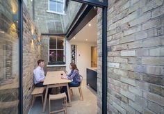 """Completed in Spring this glazed side-return creates an elegant kitchen and dining space for an East Oxford terrace. The client said,""""The side return has changed our kitchen from a narro… Victorian Terrace House, Edwardian House, Victorian Homes, Victorian Kitchen, Fixer Upper House, Terraced House, Conservatory Extension, Side Return Extension, House Extension Design"""
