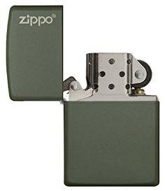 green Matte W/Zippo Logo: Zippo: Amazon.ca: Sports & Outdoors