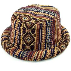 6f5d1d516dd26b Ikat Bucket Hat Folk Tapestry (1.225 RUB) ❤ liked on Polyvore featuring  accessories, hats, boho chic hats, fishing hat, hippie hats, bohemian hats  and ...