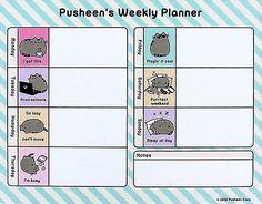 Pusheen Weekly Planner Desk Pad. Office supplies. Gift Ideas for Nurses Week. #stationery