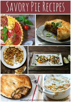 Savory Pie Recipes - Where Women Cook #pie #recipe #roundup #savory