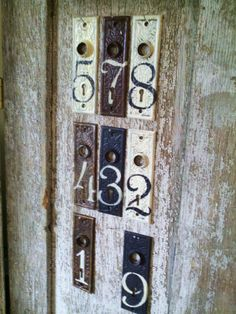 More great antique door plates