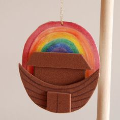 Noah's Ark with Rainbow Ornament Craft Activity