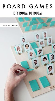 make your own version of Guess Who using the faces of people you know!