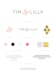 Chic, typography driven, branding for fashion blog