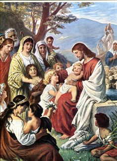 Jesus Blessing The Children by Bernhard Plockhorst