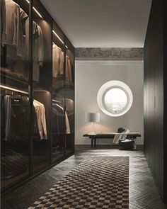 Explore the best of luxury closet design in a selection curated by Boca do Lobo to inspire interior designers looking to finish their projects. Discover unique walk-in closet setups by the best furniture makers out there Dressing Room Closet, Dressing Room Design, Dressing Rooms, Walk In Closet Design, Closet Designs, Ideas Armario, Home Interior Design, Interior Decorating, Walking Closet