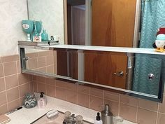 Image Result For Large Sliding Door Bathroom Mirror With Storage