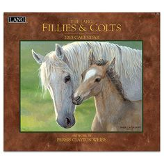 Fillies & Colts 2013 Wall Calendar: Fillies & Colts by Wild Wings artist Persis Clayton Weirs offers an elusive look at the life of parent and child Pretty Horses, Horse Love, Beautiful Horses, Animals Beautiful, Horse Artwork, Horse Portrait, Cow Art, Horse Drawings, Tier Fotos