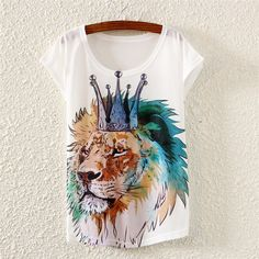 Cotton Animal Print T-shirt