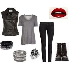 I love this look! It's so punk rock!