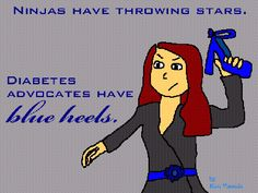 """The Blue Heel Society: Wordless Wed.- """"She is serious about advocating!"""""""