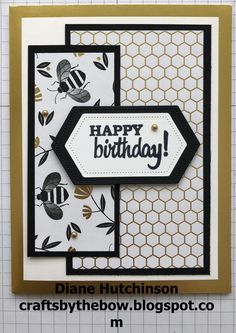 Stampin' Up! Independent Demonstrator in Alberta Canada Handmade Birthday Cards, Greeting Cards Handmade, Stampin Up Karten, Bee Cards, Stamping Up Cards, Pretty Cards, Card Sketches, Paper Cards, Scrapbook Cards