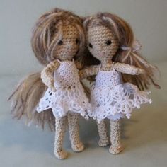 Crochet dolls by Annie's Granny Design/mini free spirit/by hook by hand