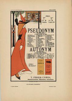 Original Pseudonym Antonym, Aubrey Beardsley, 1897, Les Affiches Etrangeres, stone lithograph. Japanese Woodcut, Aubrey Beardsley, Aesthetic Movement, Sale Poster, Advertising Poster, Love Art, Vintage Posters, Find Art, Framed Artwork
