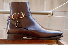 Brand New RLPL Ralph Lauren Purple Label Macon Calf boots (Jodphur Boots) in size US)Classic ankle boot handcrafted in Italy from hand-burnished. Me Too Shoes, Men's Shoes, Shoe Boots, Dress Shoes, Gentleman Shoes, Jodhpur, Dress With Boots, Formal Shoes, Mode Style