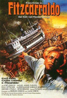 Fitzcarraldo un film de Werner Herzog avec Klaus Kinski et Claudia Cardinale. Claudia Cardinale, Miguel Angel, Mick Jagger, Great Films, Good Movies, Cinema Posters, Movie Posters, O Drama, Drama Film