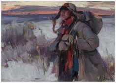 Abram Arkhipov (1862-1930), The Deserter, ca. 1918/21, Oil on canvas | Five Colleges and Historic Deerfield Museum Consortium