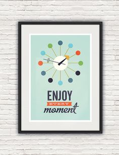 Inspirational quote print mid century modern retro poster by handz, $20