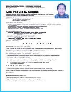 Resume Format For Bpo Jobs Cool Best Account Payable Resume Sample Collections Check More At .