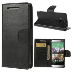 HTC One M8 Musta Sonata Lompakko Suojakuori  http://puhelimenkuoret.fi/tuote/htc-one-m8-musta-sonata-lompakko-suojakuori/