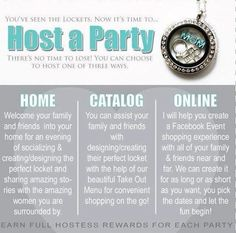 Three ways to host your party - you choose.