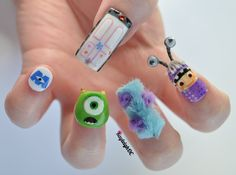 I'm celebrating the release of Monsters, Inc. 3D with my nails! Can't wait to see it in cinemas next Friday!
