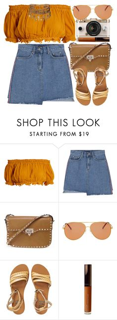 """Ibiza"" by monmondefou ❤ liked on Polyvore featuring Apiece Apart, Urban Outfitters, Valentino, Michael Kors, Billabong, Becca, Elizabeth Cole, orange and brown"
