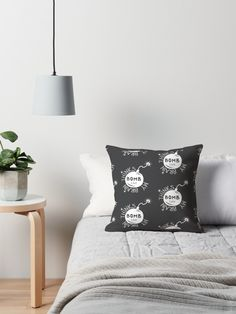 Bomb | Handlettering #4 Throw Pillows #didikasa I Shop, Bed Pillows, Pillow Cases, Home, Pillows, Ad Home, Homes, Haus, Houses