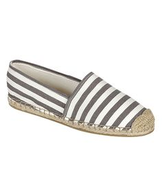 Look at this Gray Stripe Elsa Slip-On Shoe on #zulily today!