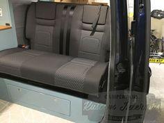 Des & Keeley VW T5 Camper Conversion - VW Camper Interiors - Camper Conversions - Kustom Interiors Cornwall Campervan Conversions Layout, Vw Conversions, Camper Conversion, Vw Transporter Camper, T5 Camper, Vw T5, Carros Suzuki, Campervan Interior, Kustom