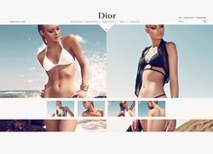 Dior Summer Website & Branding by Ben Siwoku, via Behance