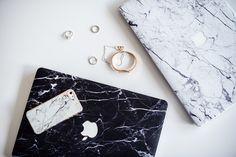 marble MacBook case white blogger aesthetic