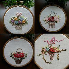 쪼매난 꽃바구니라 만만히 볼일이 아니다. 시간 오래걸리네~~ 그래도 한개한개 완성하는 재미가 있다~ 벽걸이 해보려고 수놓고 있는데... 어찌될지 내맘 나도 모르것다~ ㅋ  #꽃바구니자수 #flower basket embroidery #자수꽃바구니#자수벽걸이