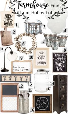 Farmhouse Finds Fixer Upper at Hobby Lobby - Happily Ever Ashley Rogers - Amazing Interior Design Country Farmhouse Decor, Farmhouse Chic, Farmhouse Design, Rustic Decor, Farmhouse Ideas, Farmhouse Office, Country Chic Decor, Farmhouse Lamps, Farmhouse Windows