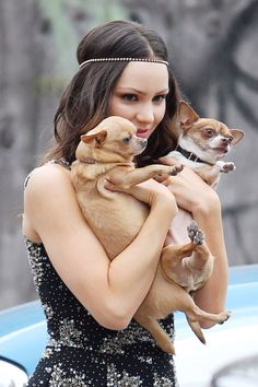 Katharine McPhee with her dogs #Smash