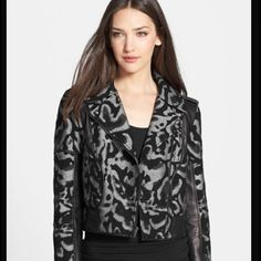 Nwt Diane Von Furstenburg leather detail jacket Bust is 17 measures20 from top to bottom gorgeous jacket with real leather details Theodora style no flaws will come with original plastic please use offer button No Trades Please Diane von Furstenberg Jackets & Coats