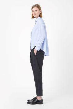 COS | A-line poplin shirt