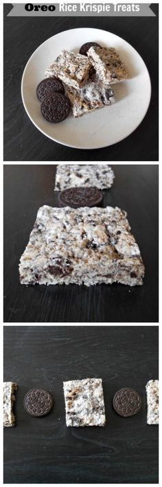 oreo rice krispie treats....two popular treats combined into one! so easy, and a real crowd pleaser!