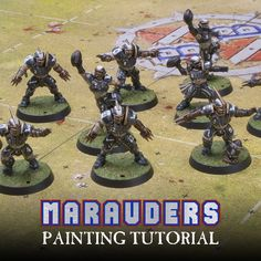 Today I have a step by step tutorial on how to paint your Human team from Blood Bowl as the Marauders as well as a gallery of my finish...