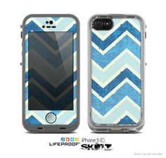 The Vibrant Blue Vintage Chevron V3 Skin for the by TheSkinDudes