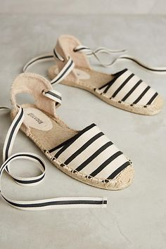 Soludos Wrapped D'Orsay Espadrilles White 6 Flats