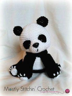 Panda Bear CROCHET PATTERN PDF by MostlyStitchin on Etsy