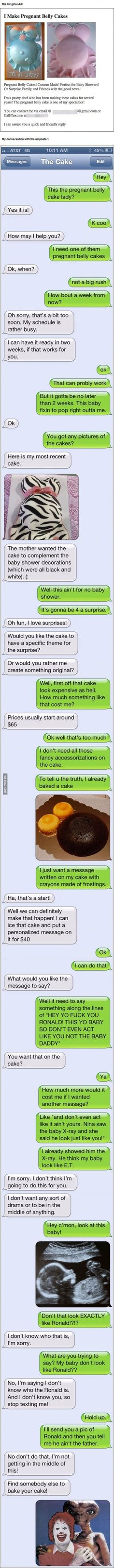 Dude Fake Texts Local Pastry Chef In A Hilarious Prank Almost Too Funny To Be True --- I'm crying lol