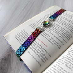You Beta Read Book Band Rainbow Multichrome Elastic Bookmark Rainbow Fish, Paperback Books, Book Worms, Books To Read, Handmade Items, Beaded Bracelets, Band, Reading, Gifts