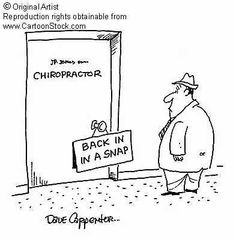 Back in a snap! #ChiroTouch #Chiropractic