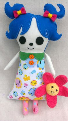 Blossom Plush Softie Doll. $25.00, via Etsy.