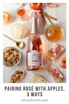 Celebrate that transition from Summer to Fall by pairing Rosé wine with apples THREE ways! Cheese And Wine Tasting, Wine And Cheese Party, Wine Cheese, Fall Recipes, Wine Recipes, Iranian Food, Easy Cocktails, Wine Parties, Food Photography