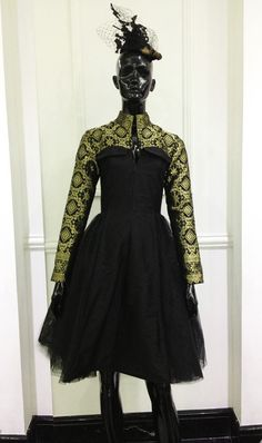 Black Dress With Songket by ISIS