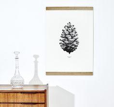 1:1 Pine Cone (white) - PAPER COLLECTIVE